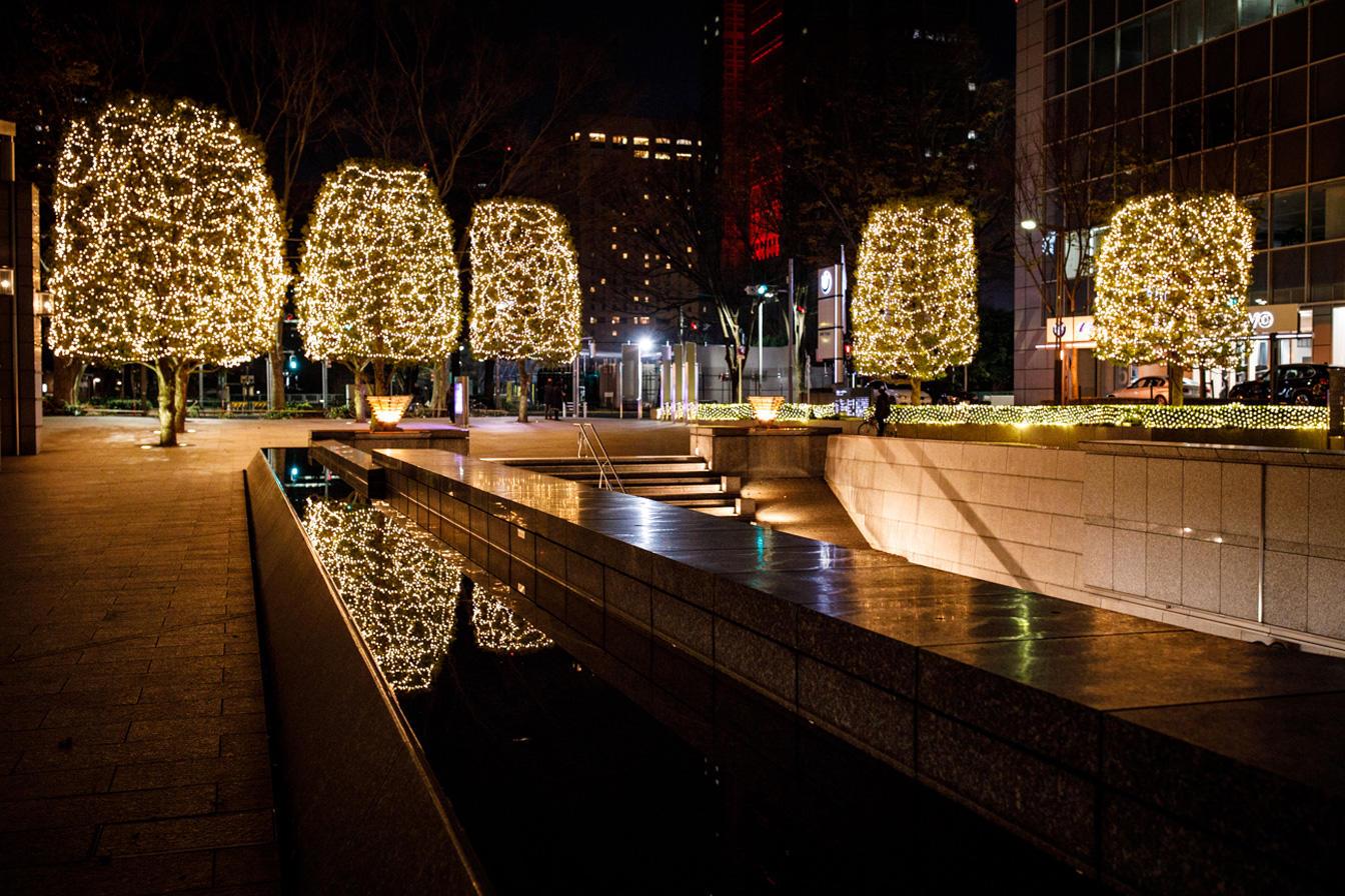 都会の夜を彩る