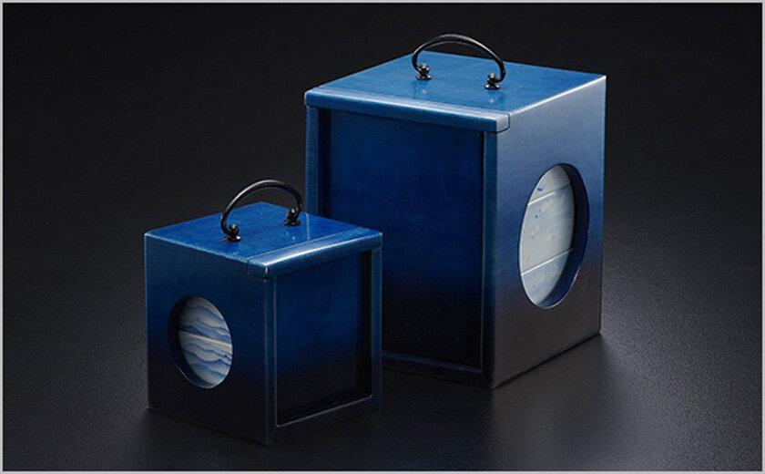 blue²@Tokushima LED∝藍 企画展示<br />徳島の伝統「遊山箱」「阿波和紙」